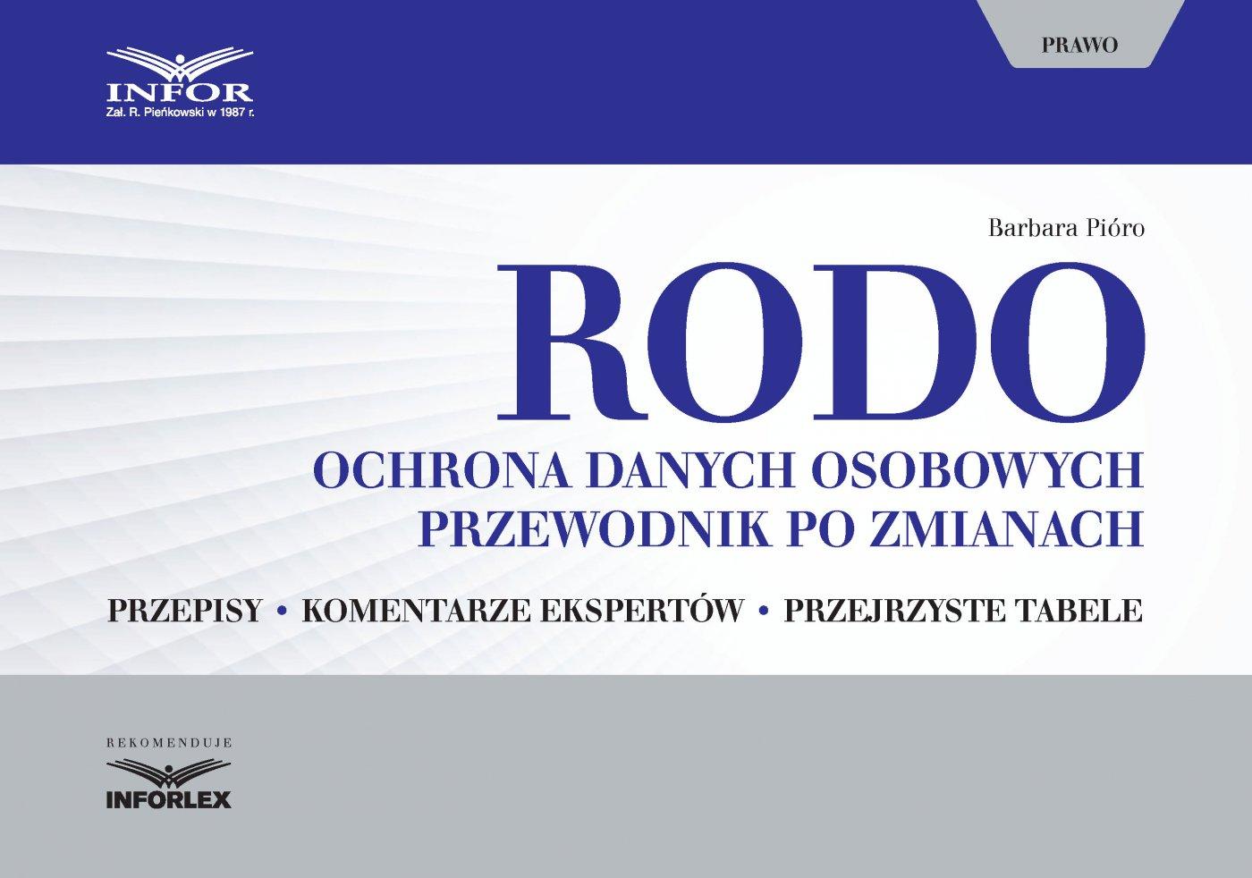RODO. Ochrona danych osobowych. Przewodnik po zmianach - Ebook (Książka PDF) do pobrania w formacie PDF