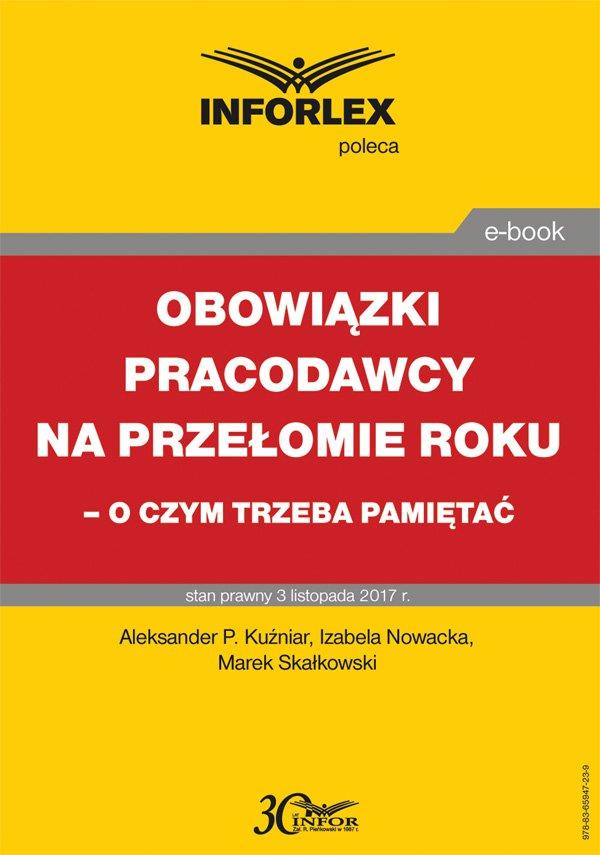 Obowiązki pracodawcy na przełomie roku – o czym trzeba pamiętać - Ebook (Książka PDF) do pobrania w formacie PDF