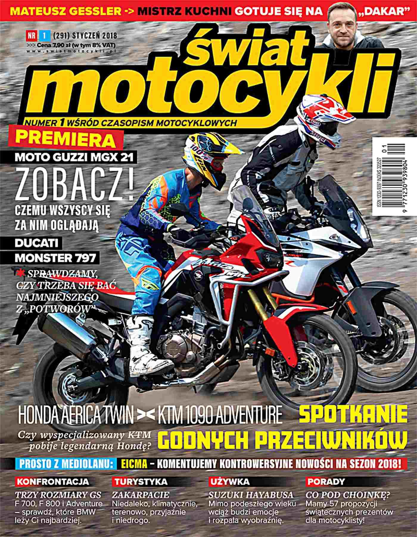 Świat Motocykli 1/2018 - Ebook (Książka PDF) do pobrania w formacie PDF