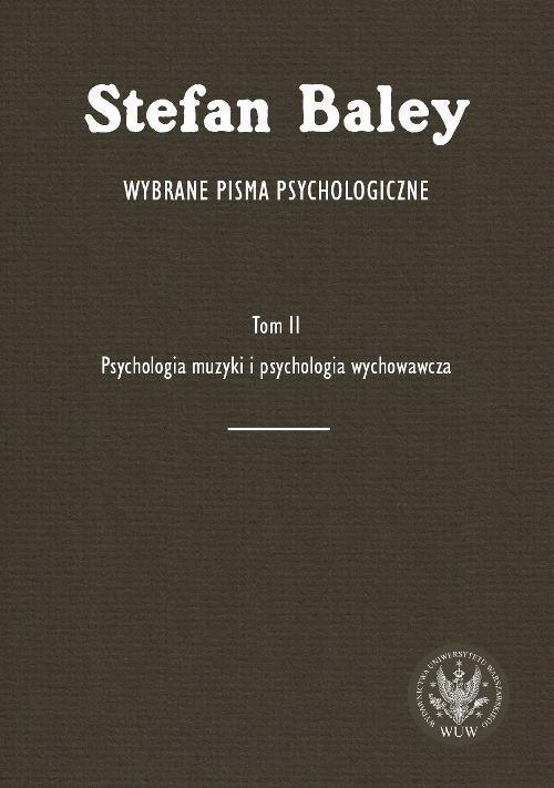 Wybrane pisma psychologiczne. Tom II - Ebook (Książka PDF) do pobrania w formacie PDF