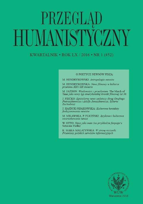 Przegląd Humanistyczny 2016/1 (452) - Ebook (Książka PDF) do pobrania w formacie PDF