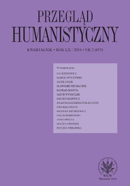Przegląd Humanistyczny 2016/2 (453) - Ebook (Książka PDF) do pobrania w formacie PDF