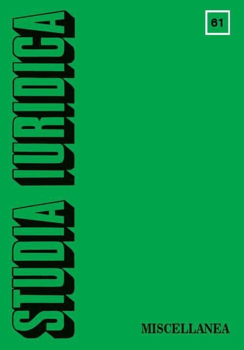 Studia Iuridica. Number 61 - Ebook (Książka PDF) do pobrania w formacie PDF