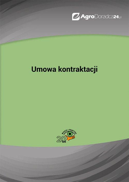 Umowa kontraktacji - Ebook (Książka PDF) do pobrania w formacie PDF