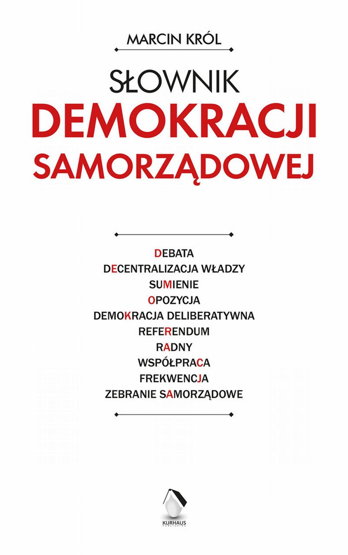 Słownik demokracji samorządowej - Ebook (Książka PDF) do pobrania w formacie PDF