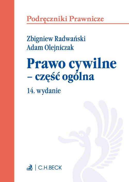 Prawo cywilne - część ogólna. Wydanie 14 - Ebook (Książka EPUB) do pobrania w formacie EPUB