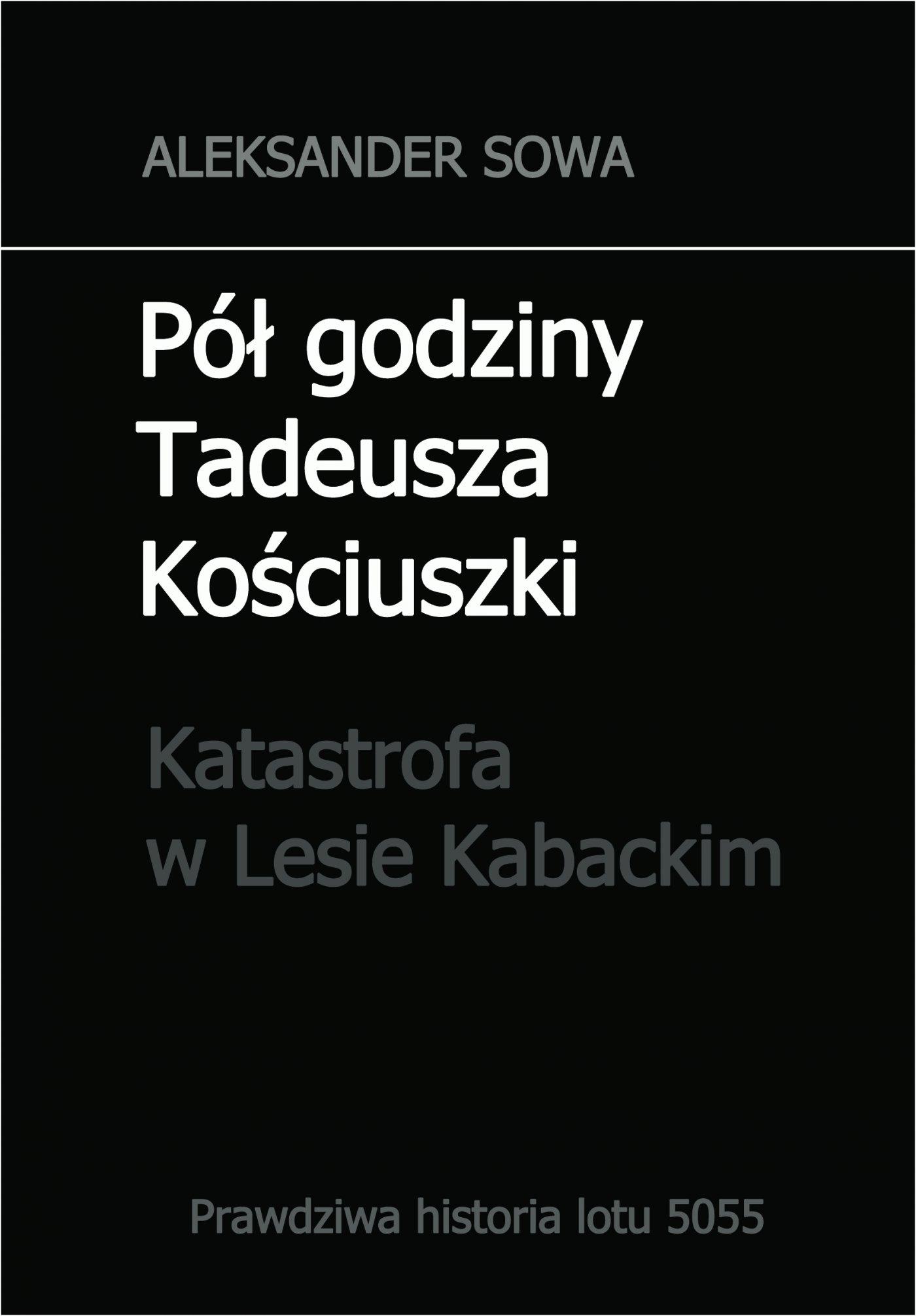 Pół godziny Tadeusza Kościuszki. Katastrofa w Lesie Kabackim - Ebook (Książka PDF) do pobrania w formacie PDF