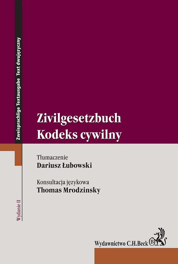 Kodeks cywilny. Zivilgesetzbuch. Wydanie 2 - Ebook (Książka EPUB) do pobrania w formacie EPUB