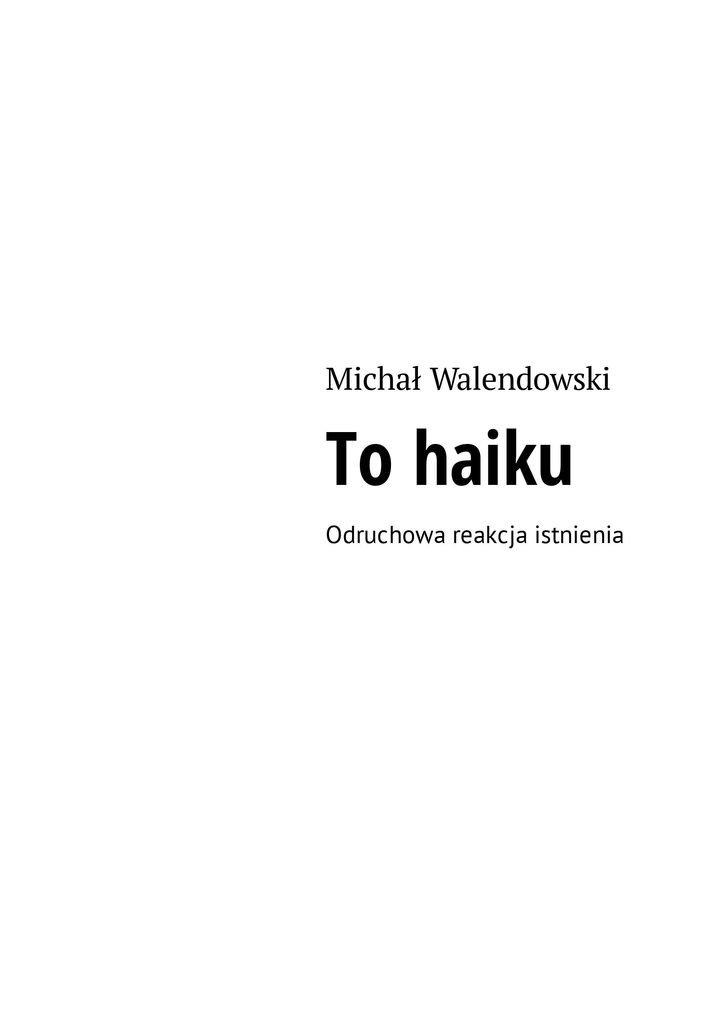 Tohaiku - Ebook (Książka na Kindle) do pobrania w formacie MOBI