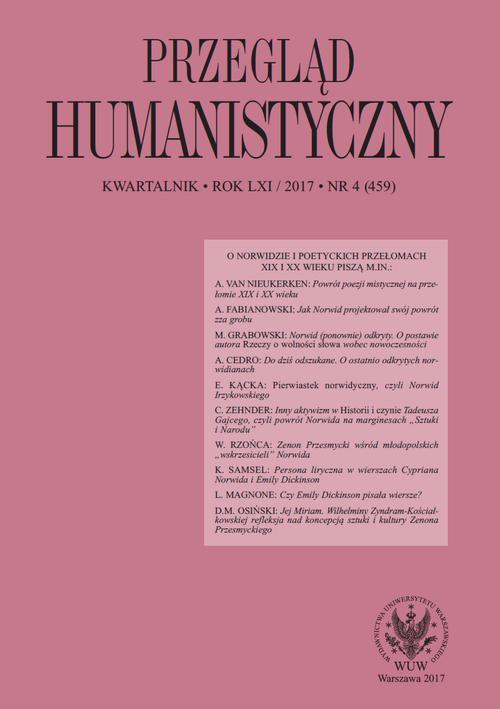 Przegląd Humanistyczny 2017/4 (459) - Ebook (Książka PDF) do pobrania w formacie PDF