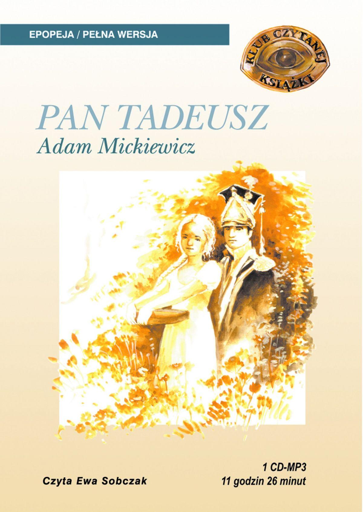 Pan Tadeusz - Audiobook (Książka audio MP3) do pobrania w całości w archiwum ZIP