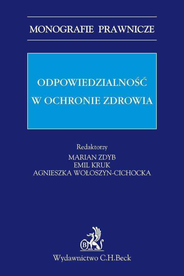 Odpowiedzialność w ochronie zdrowia - Ebook (Książka PDF) do pobrania w formacie PDF