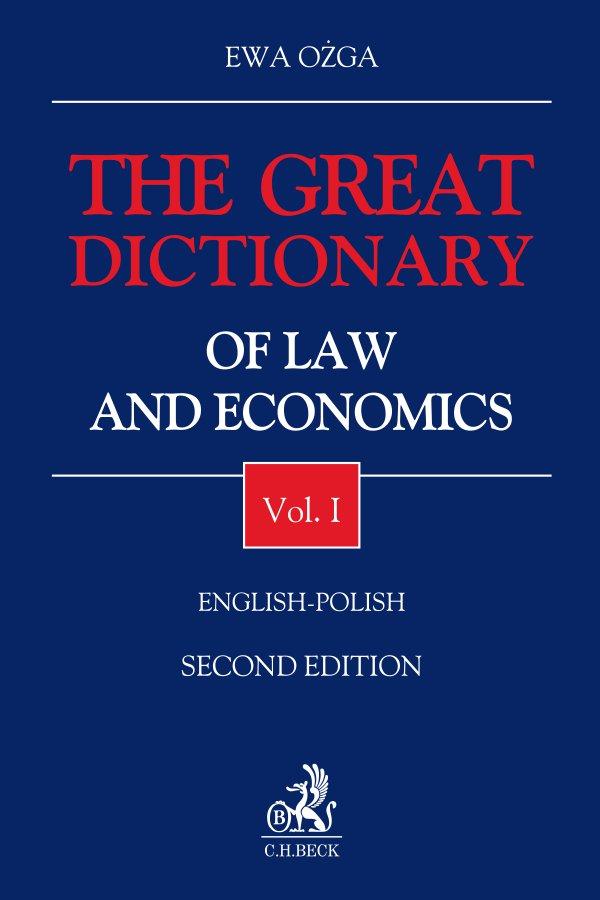 The Great Dictionary of Law and Economics. Vol. I. English - Polish - Ebook (Książka EPUB) do pobrania w formacie EPUB