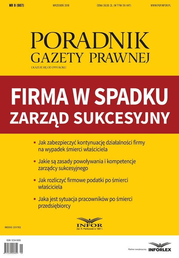 Firma w spadku – zarząd sukcesyjny - Ebook (Książka PDF) do pobrania w formacie PDF