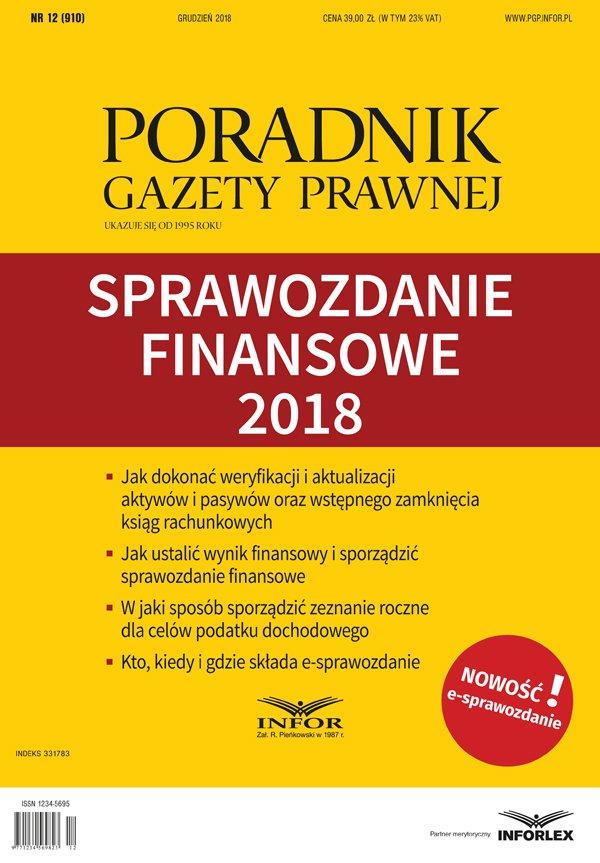 Sprawozdanie finansowe 2018 - Ebook (Książka PDF) do pobrania w formacie PDF