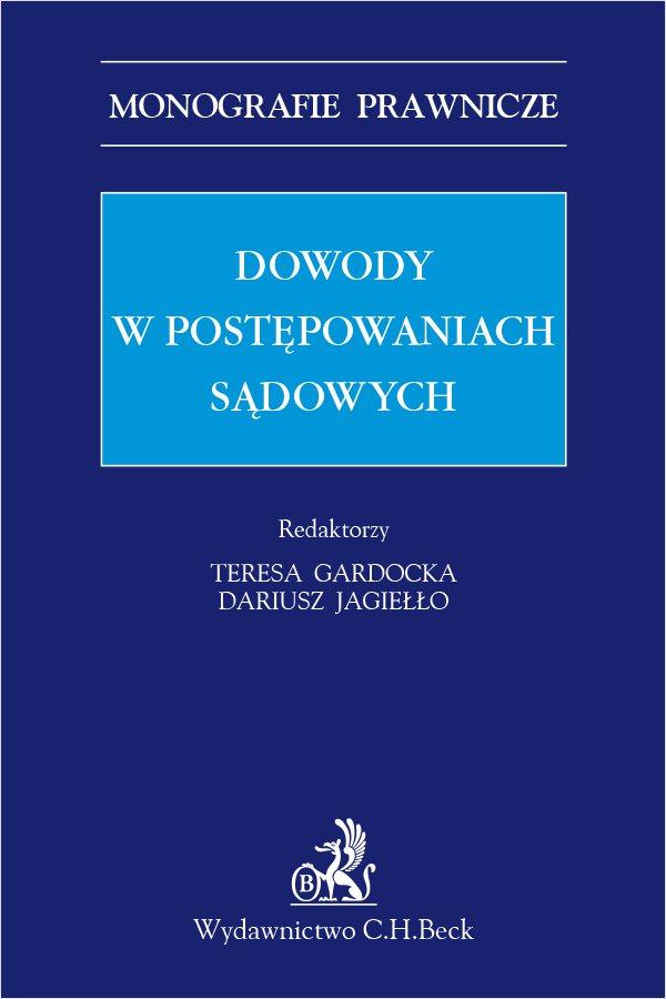 Dowody w postępowaniach sądowych - Ebook (Książka PDF) do pobrania w formacie PDF