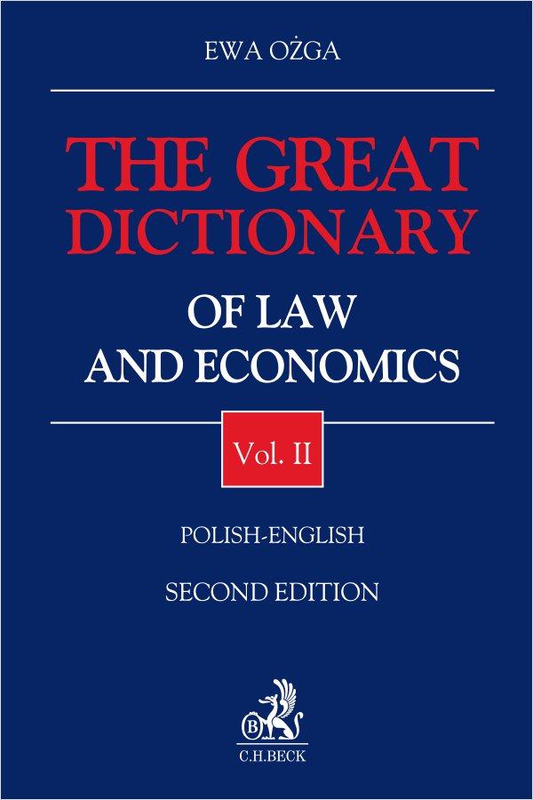 The Great Dictionary of Law and Economics. Vol. II. Polish - English - Ebook (Książka EPUB) do pobrania w formacie EPUB