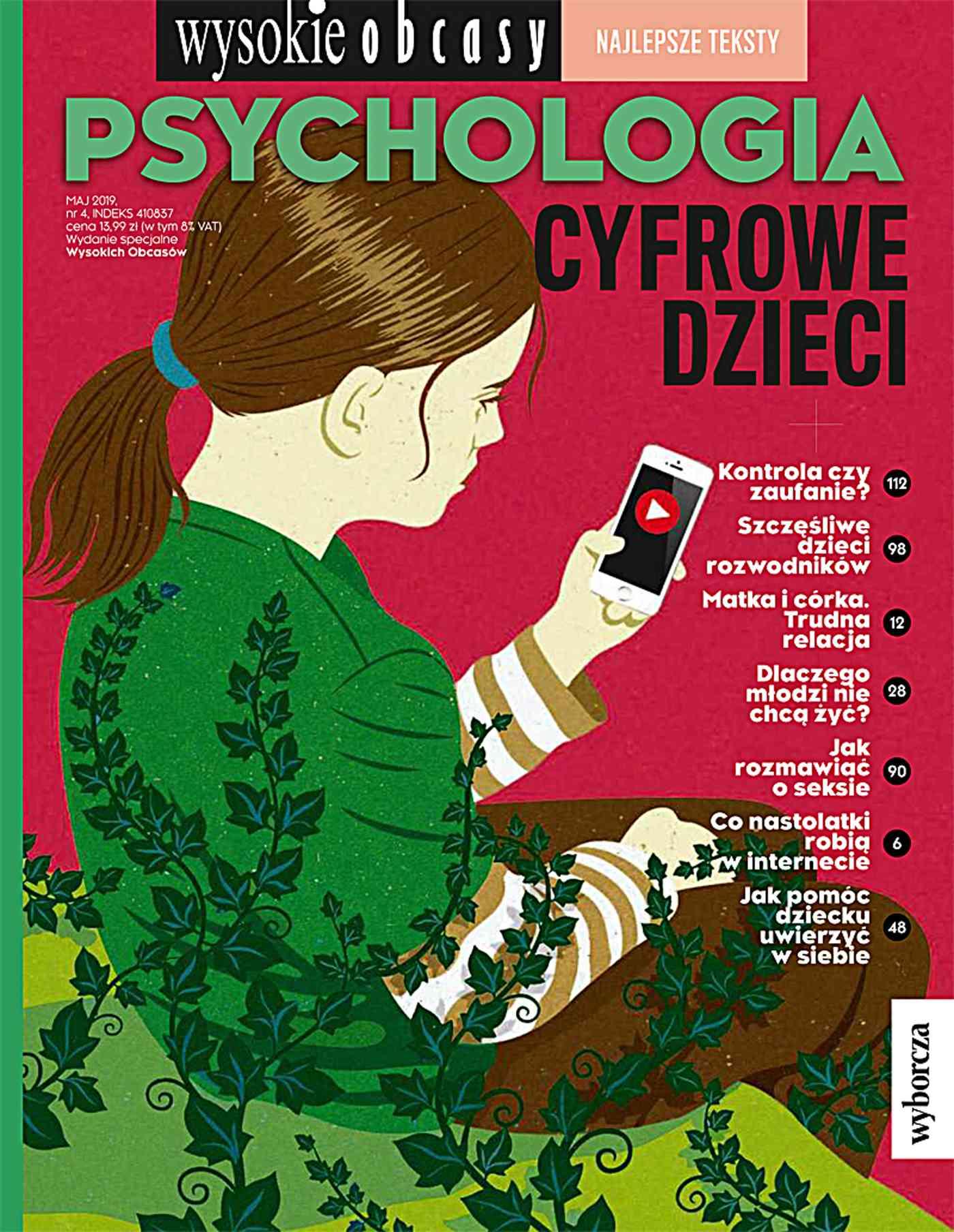 Psychologia. Cyfrowe dzieci . Wysokie Obcasy. Wydanie Specjalne 4/2019 - Ebook (Książka EPUB) do pobrania w formacie EPUB
