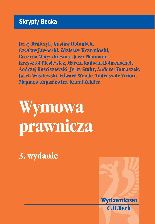 Wymowa prawnicza - Ebook (Książka PDF) do pobrania w formacie PDF