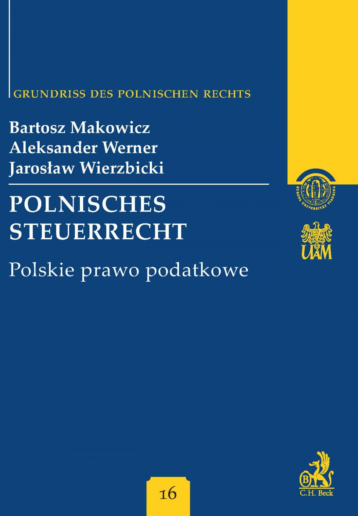 Polnisches Steuerrecht Polskie prawo podatkowe Band 16 - Ebook (Książka PDF) do pobrania w formacie PDF