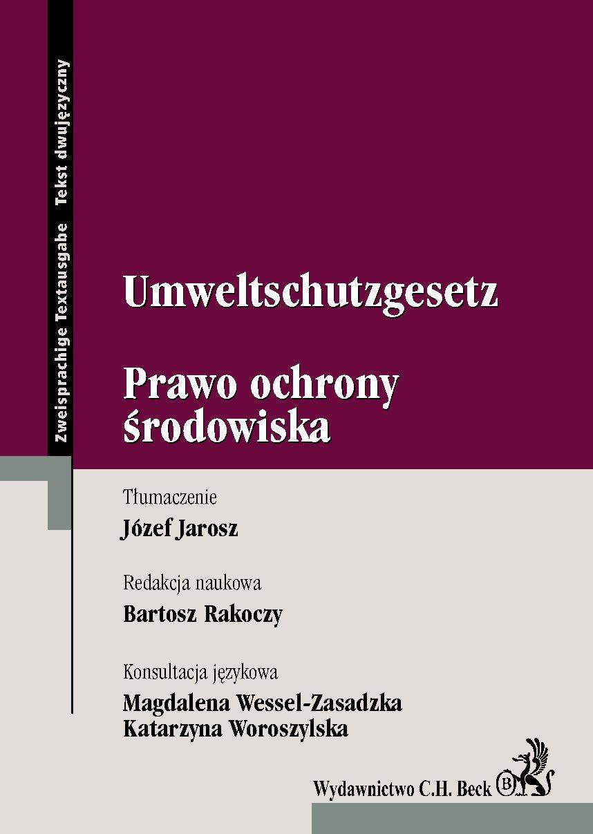 Umweltschutzgesetz. Prawo Ochrony Środowiska - Ebook (Książka PDF) do pobrania w formacie PDF