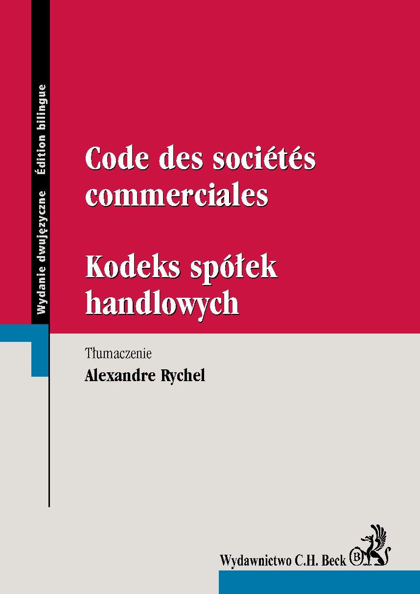 Code des societes commerciales. Kodeks spółek handlowych - Ebook (Książka PDF) do pobrania w formacie PDF