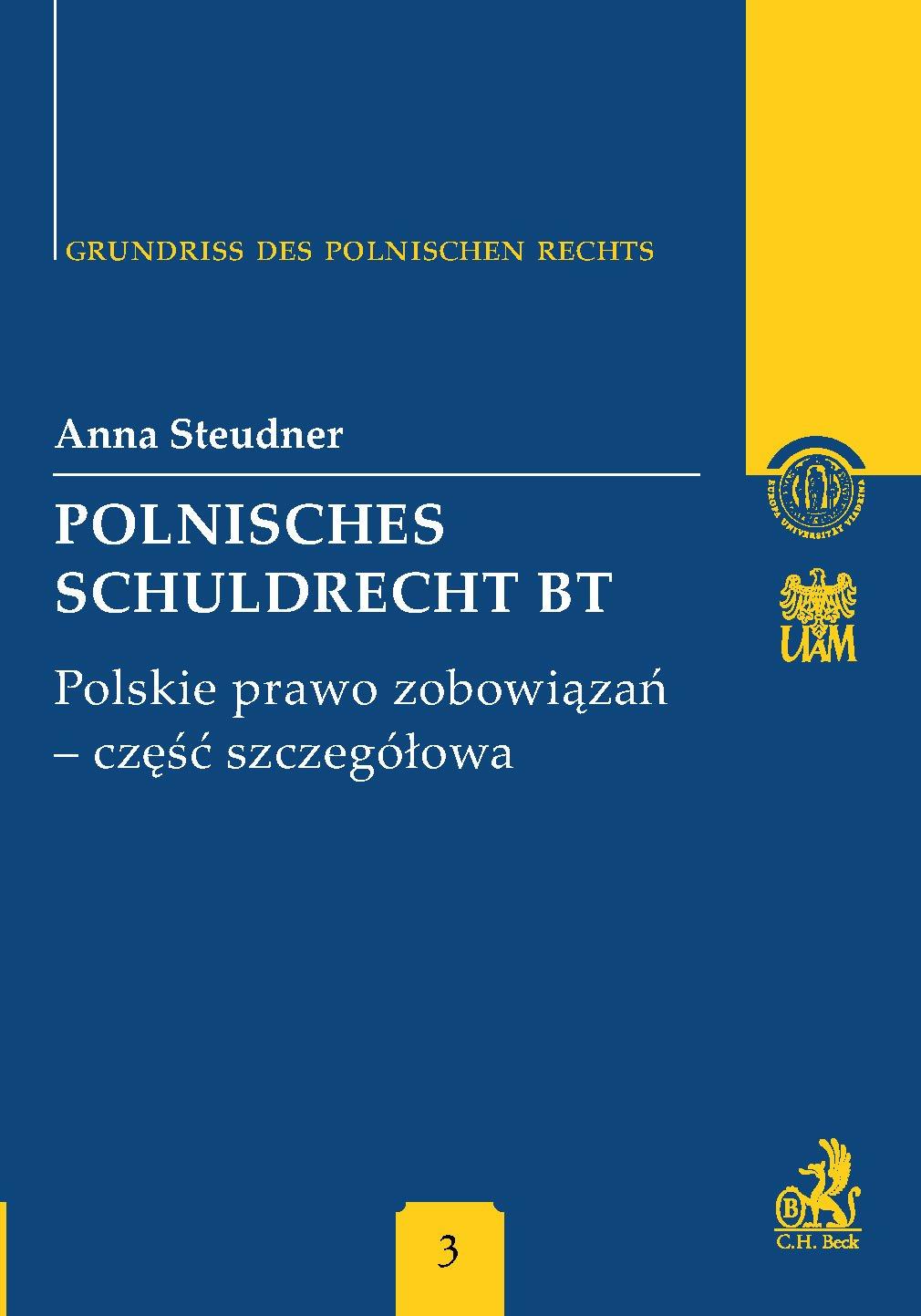 Polnisches Schuldrecht BT. Polskie prawo zobowiązań - część szczegółowa - Ebook (Książka PDF) do pobrania w formacie PDF