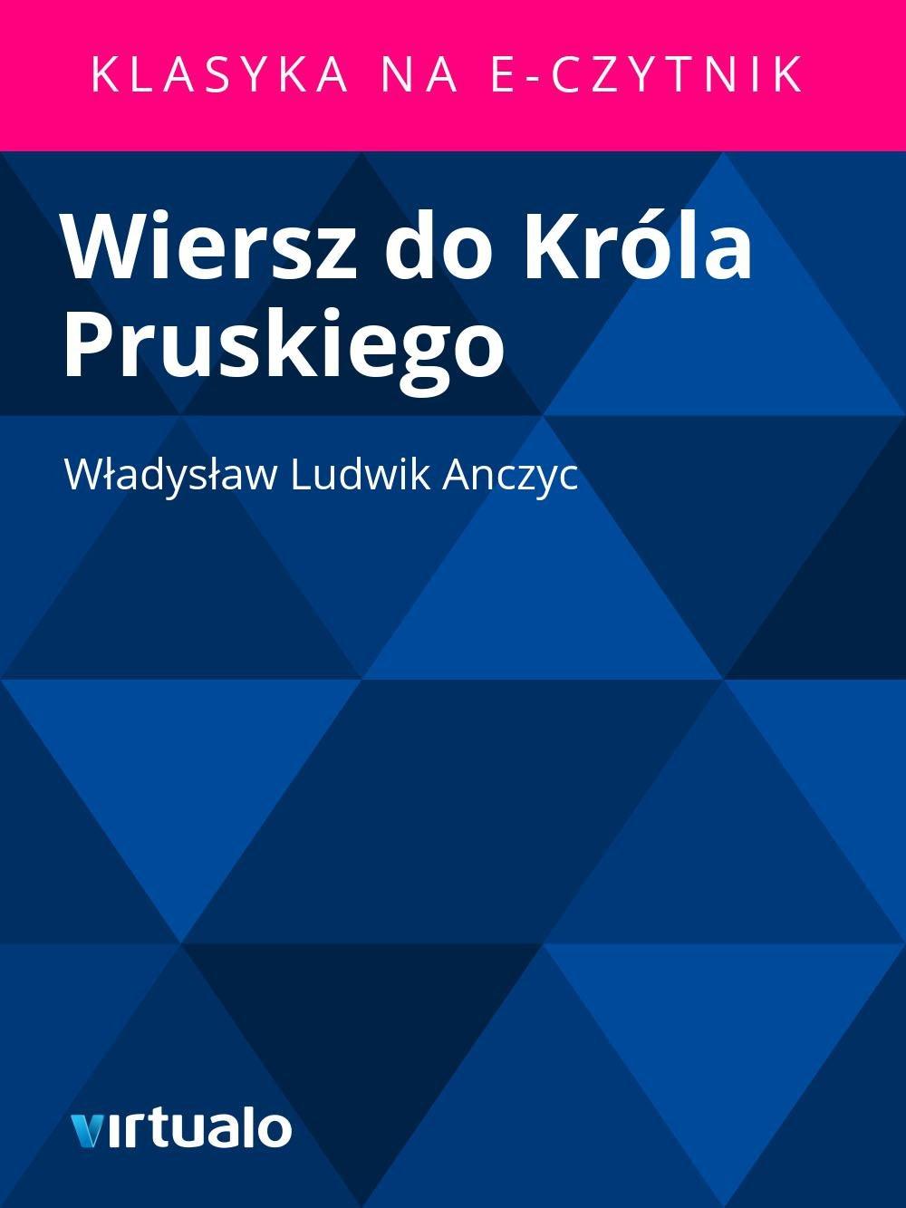 Wiersz do Króla Pruskiego - Ebook (Książka EPUB) do pobrania w formacie EPUB