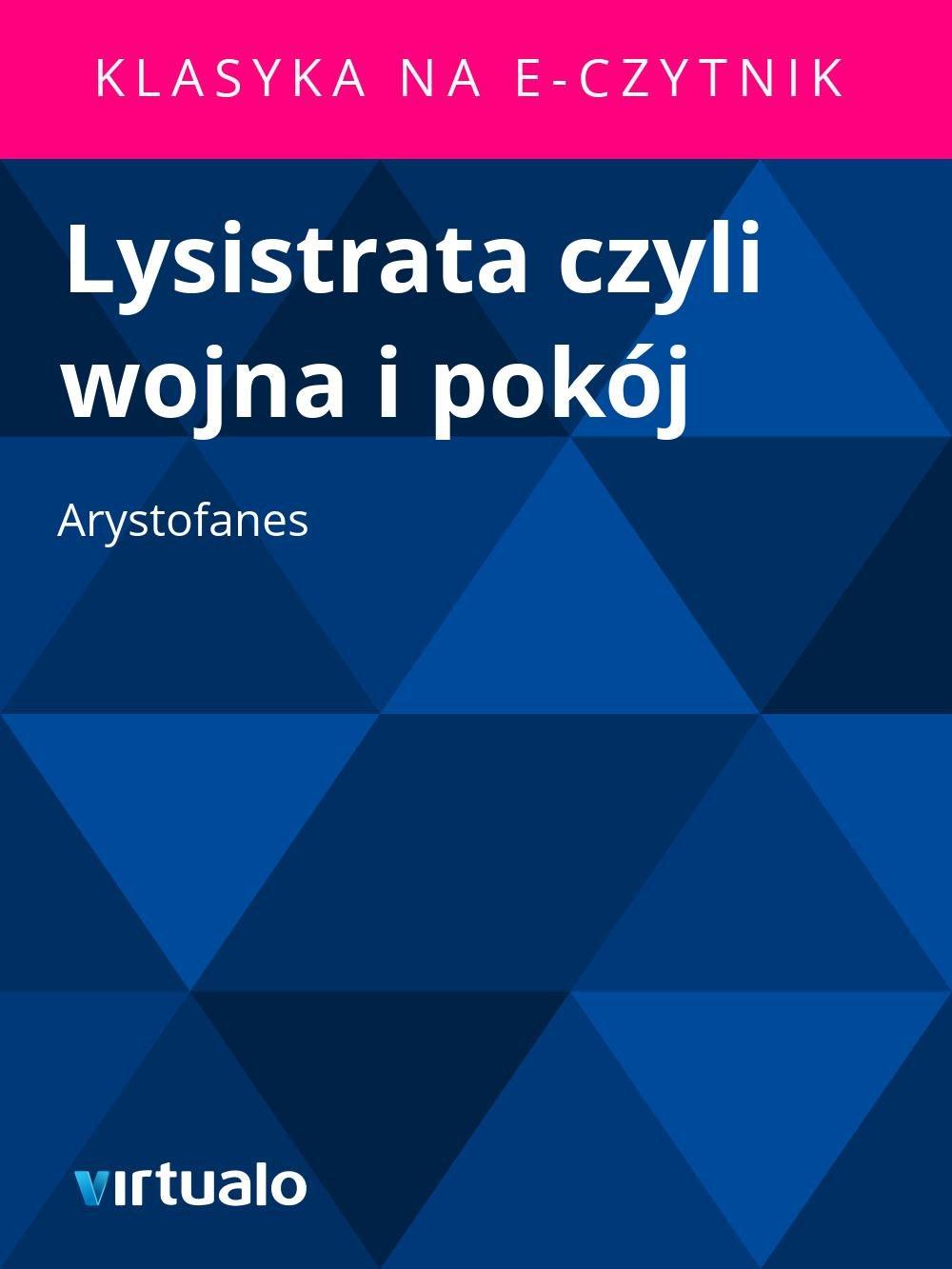 Lysistrata czyli wojna i pokój - Ebook (Książka EPUB) do pobrania w formacie EPUB