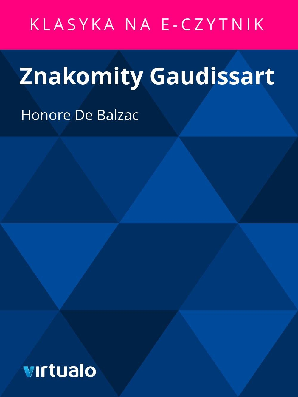 Znakomity Gaudissart - Ebook (Książka EPUB) do pobrania w formacie EPUB