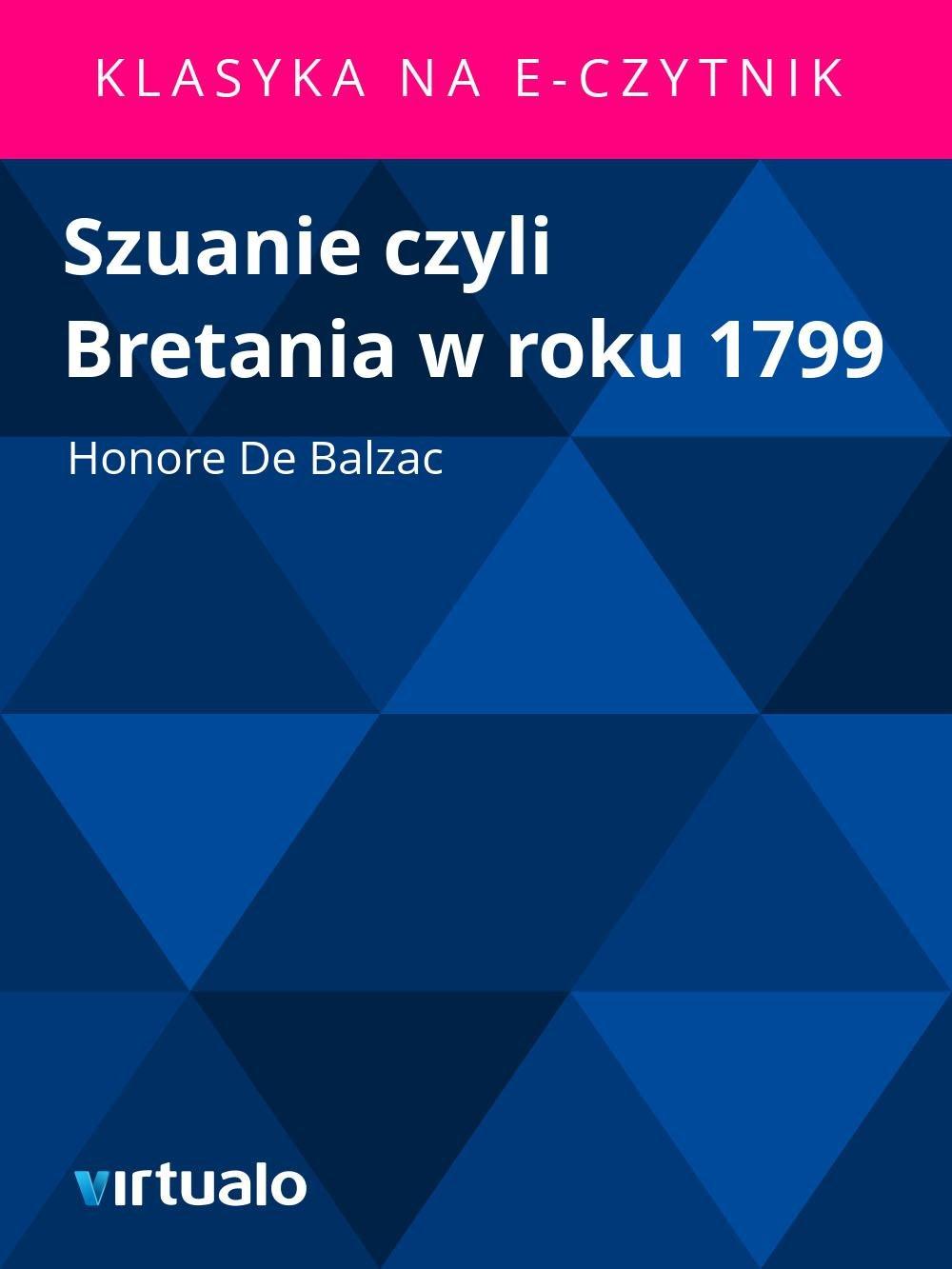 Szuanie czyli Bretania w roku 1799 - Ebook (Książka EPUB) do pobrania w formacie EPUB