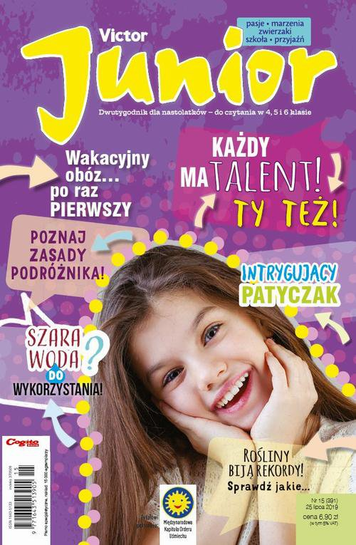 Victor Junior nr 15 (391) 25 lipca 2019 - Ebook (Książka PDF) do pobrania w formacie PDF
