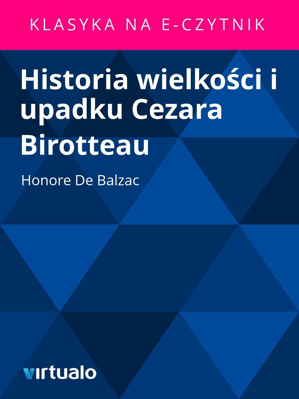 Historia wielkości i upadku Cezara Birotteau - Ebook (Książka EPUB) do pobrania w formacie EPUB