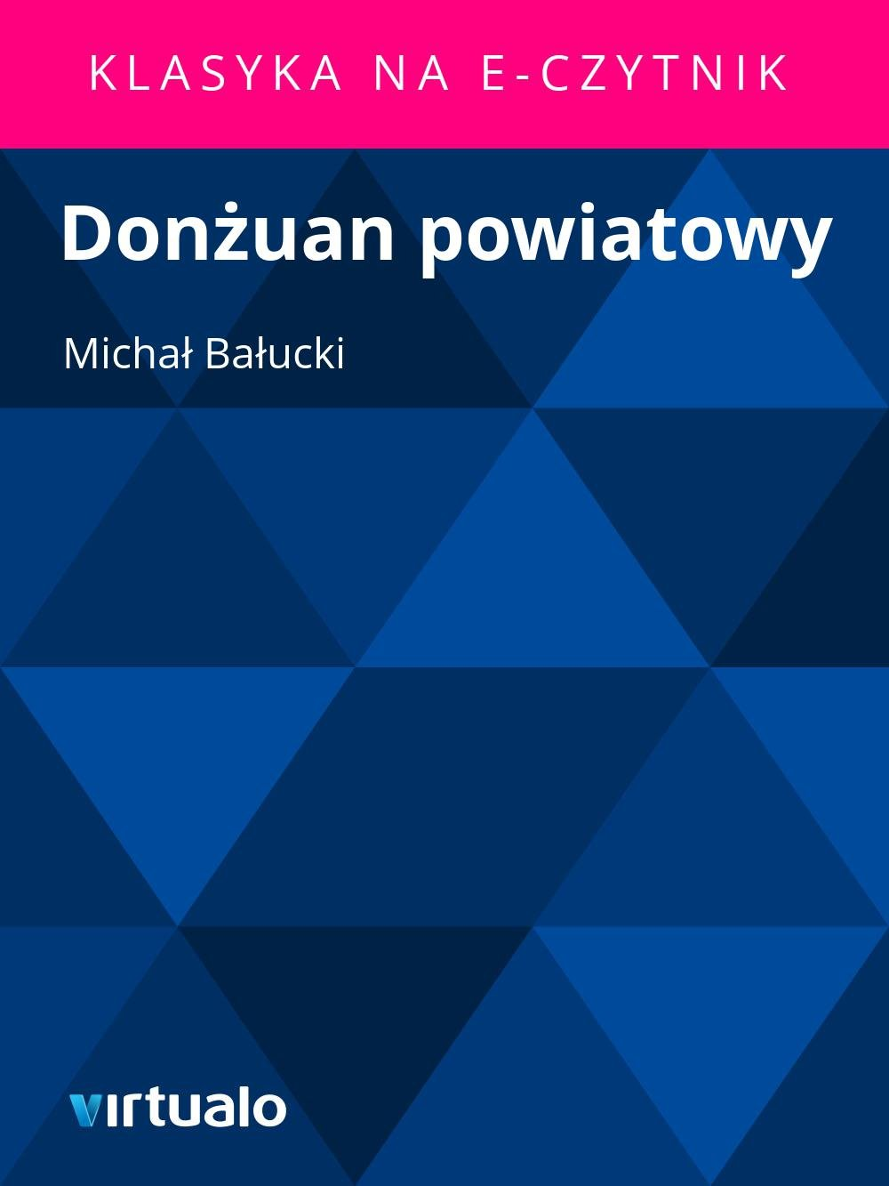 Donżuan powiatowy - Ebook (Książka EPUB) do pobrania w formacie EPUB