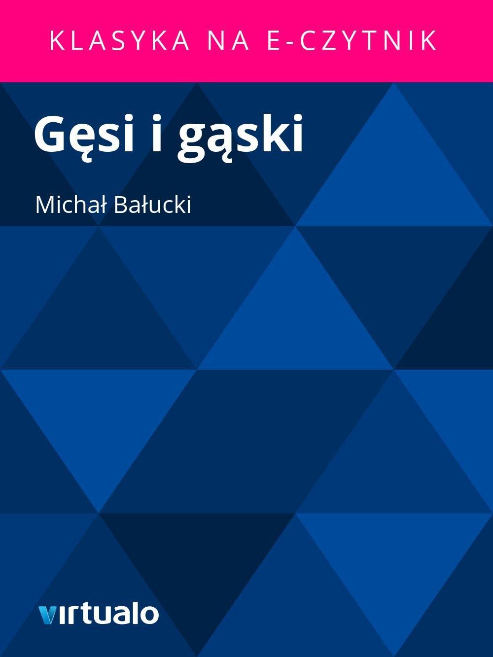 Gęsi i gąski - Ebook (Książka EPUB) do pobrania w formacie EPUB