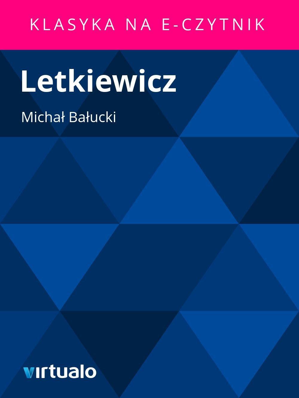 Letkiewicz - Ebook (Książka EPUB) do pobrania w formacie EPUB