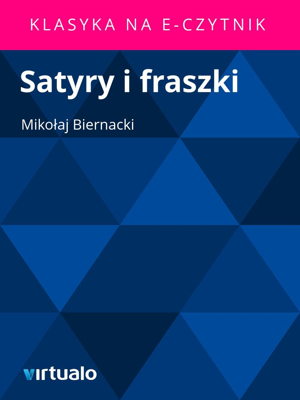 Satyry i fraszki - Ebook (Książka EPUB) do pobrania w formacie EPUB