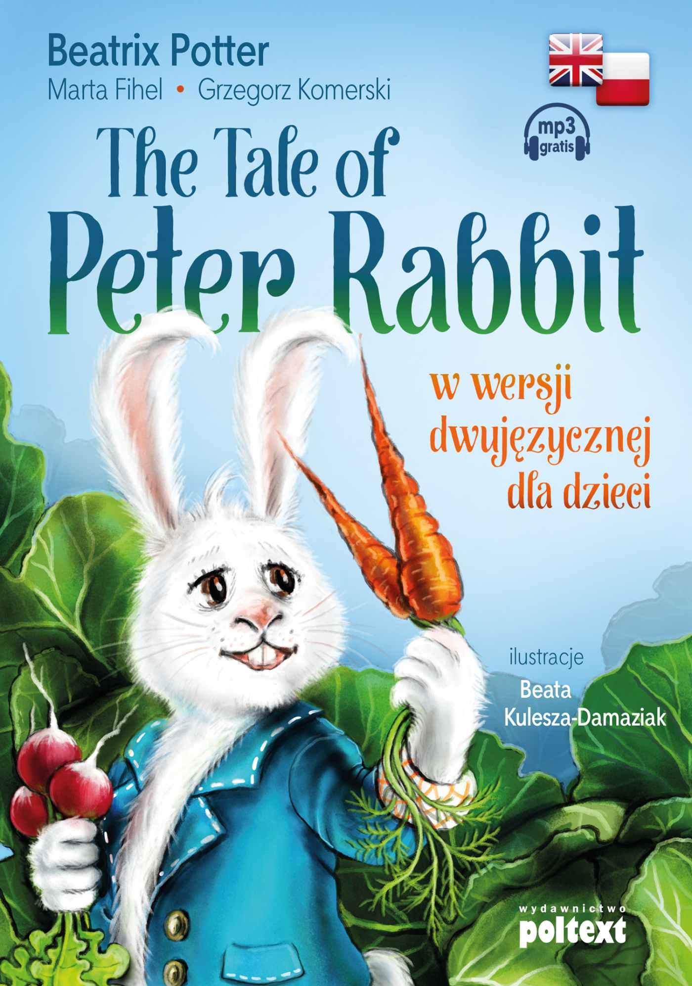 The Tale of Peter Rabbit w wersji dwujęzycznej dla dzieci - Audiobook (Książka audio MP3) do pobrania w całości w archiwum ZIP