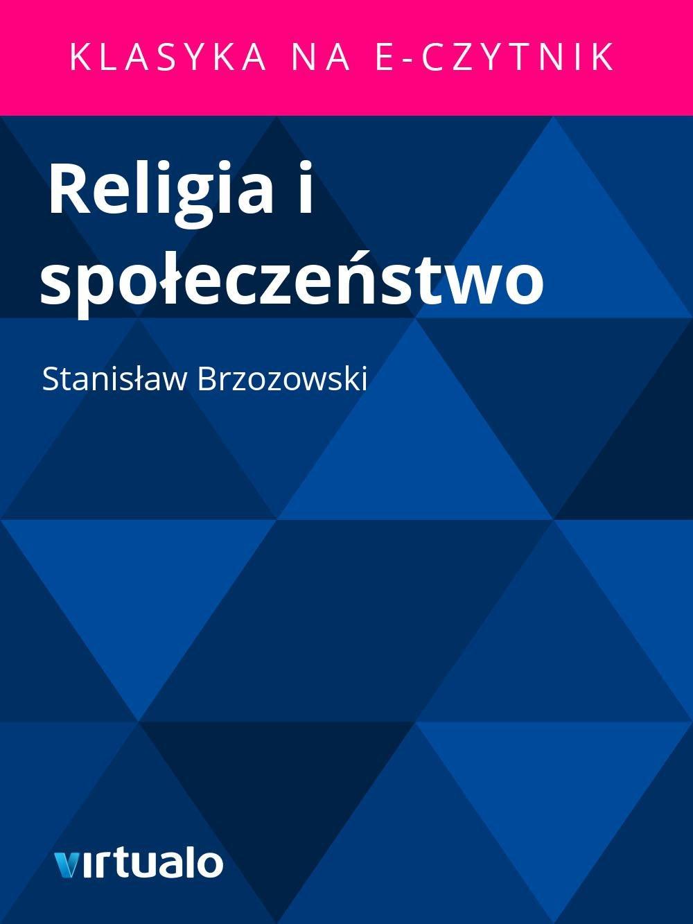 Religia i społeczeństwo - Ebook (Książka EPUB) do pobrania w formacie EPUB