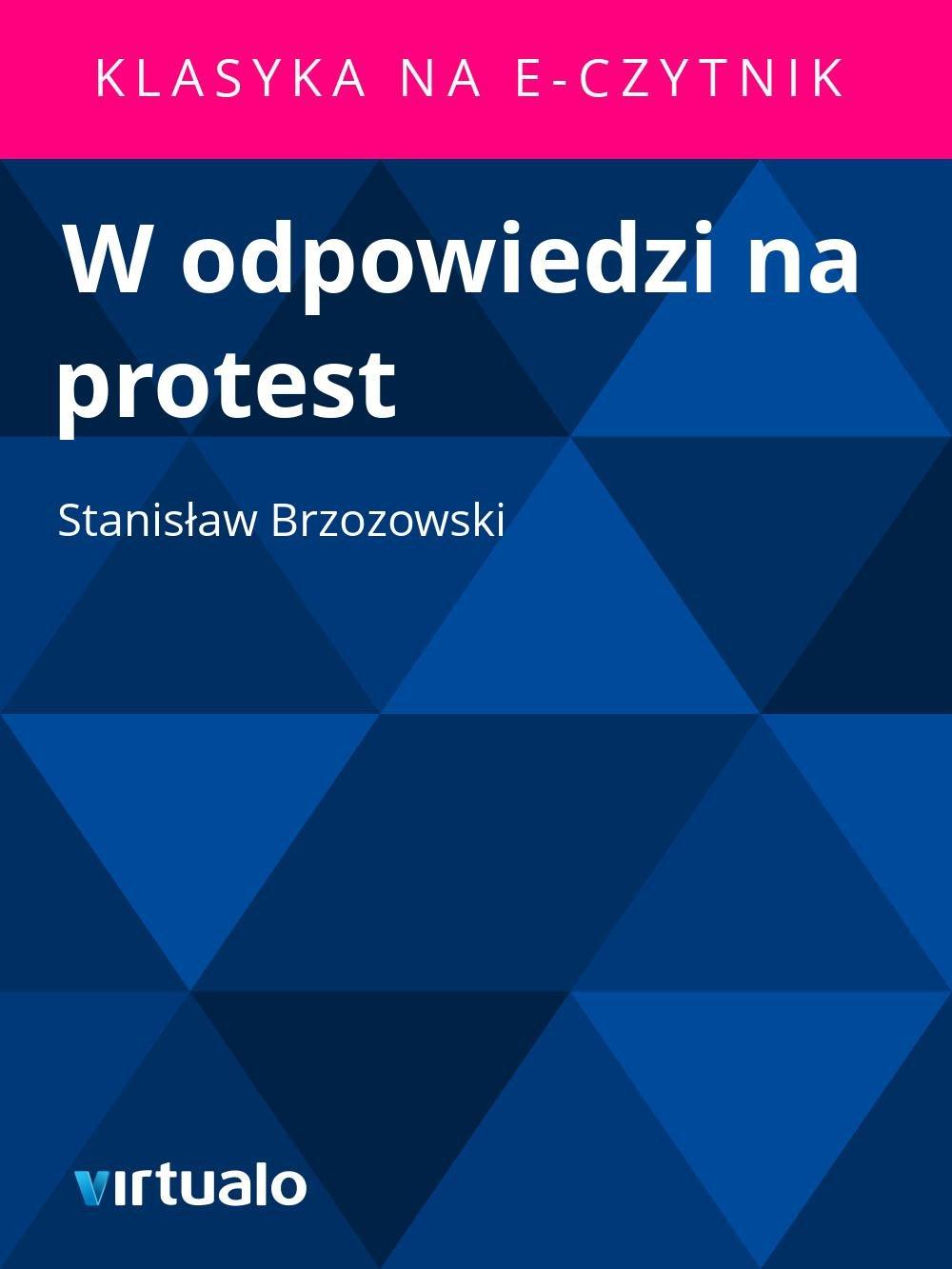 W odpowiedzi na protest - Ebook (Książka EPUB) do pobrania w formacie EPUB