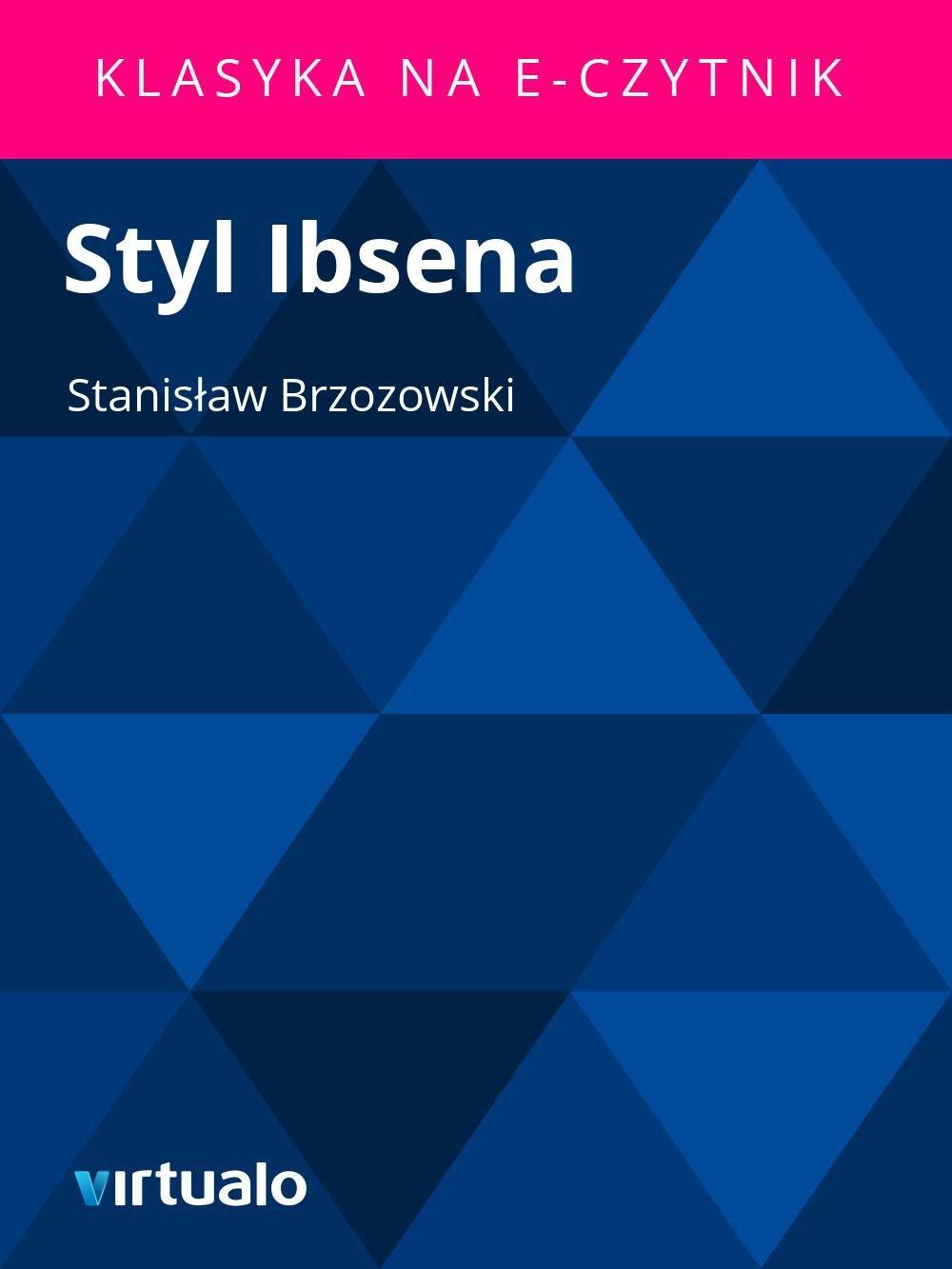 Styl Ibsena - Ebook (Książka EPUB) do pobrania w formacie EPUB