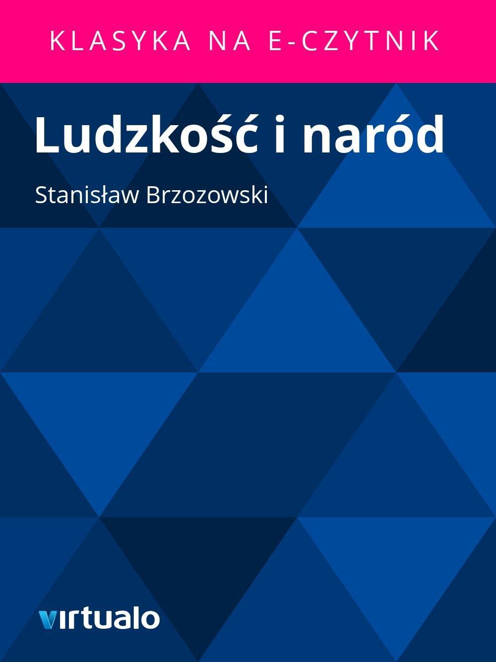Ludzkość i naród - Ebook (Książka EPUB) do pobrania w formacie EPUB