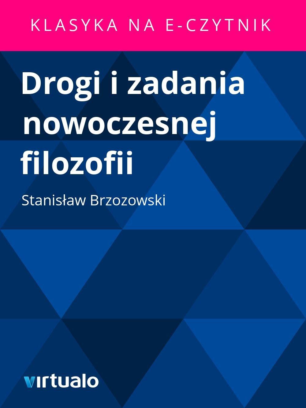 Drogi i zadania nowoczesnej filozofii - Ebook (Książka EPUB) do pobrania w formacie EPUB