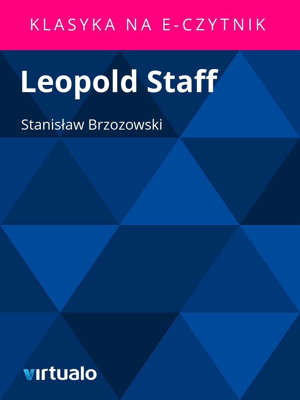 Leopold Staff - Ebook (Książka EPUB) do pobrania w formacie EPUB