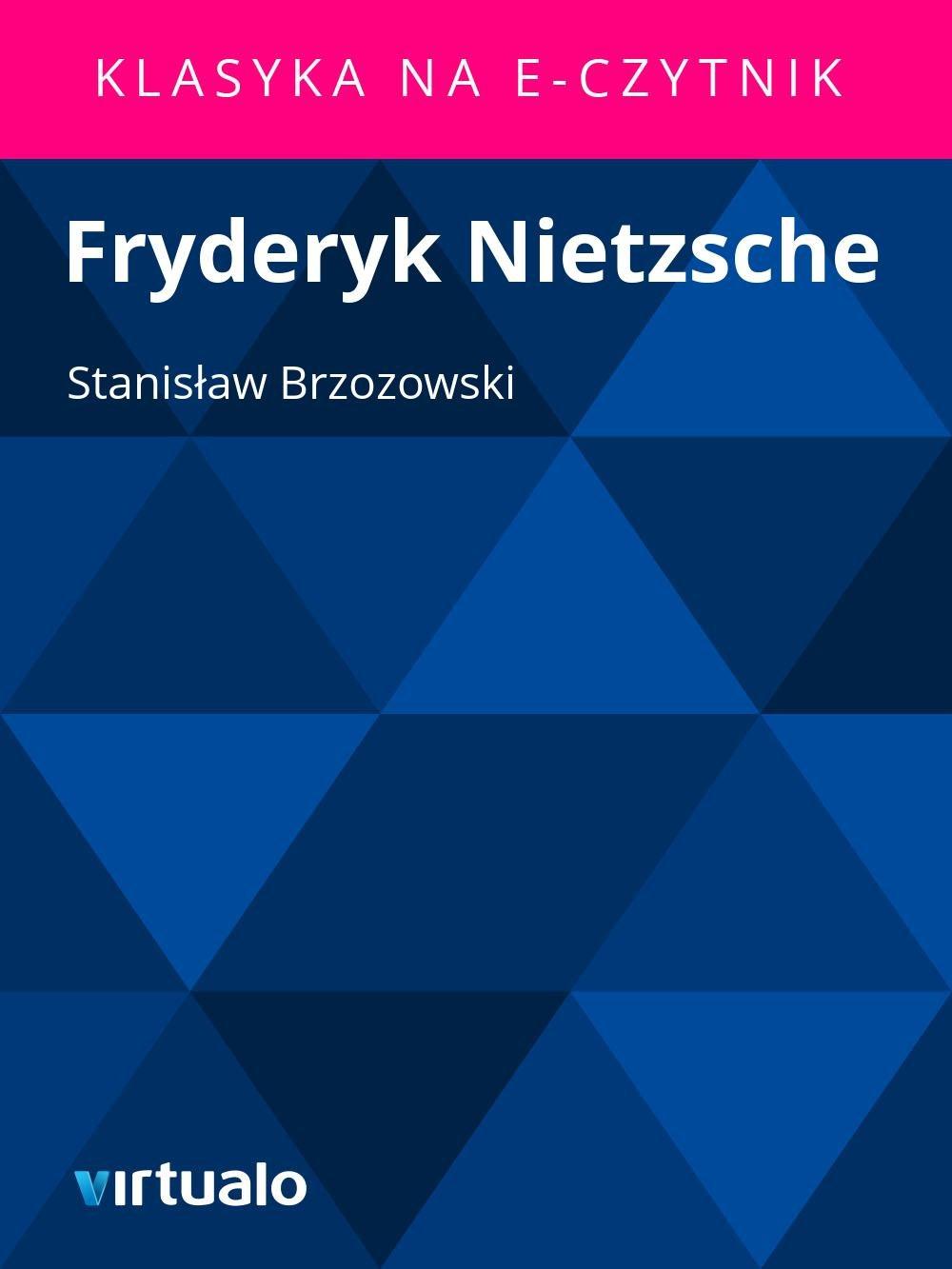 Fryderyk Nietzsche - Ebook (Książka EPUB) do pobrania w formacie EPUB