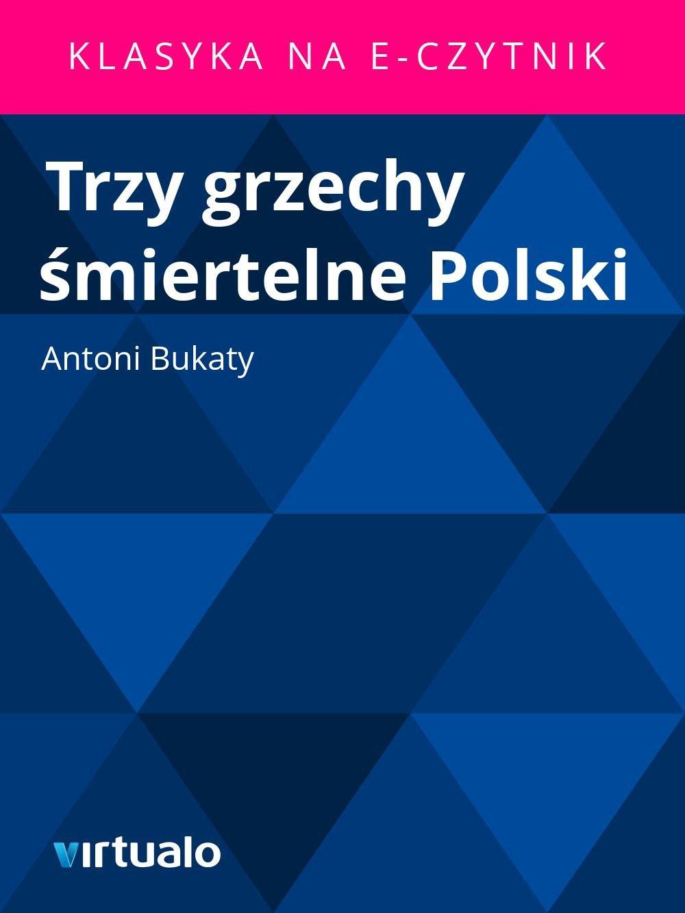 Trzy grzechy śmiertelne Polski - Ebook (Książka EPUB) do pobrania w formacie EPUB