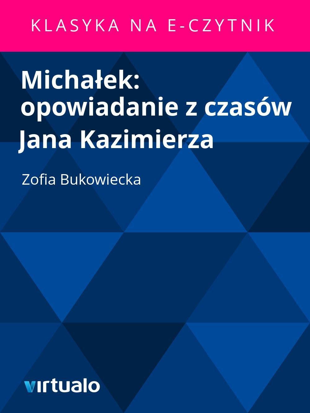 Michałek: opowiadanie z czasów Jana Kazimierza - Ebook (Książka EPUB) do pobrania w formacie EPUB
