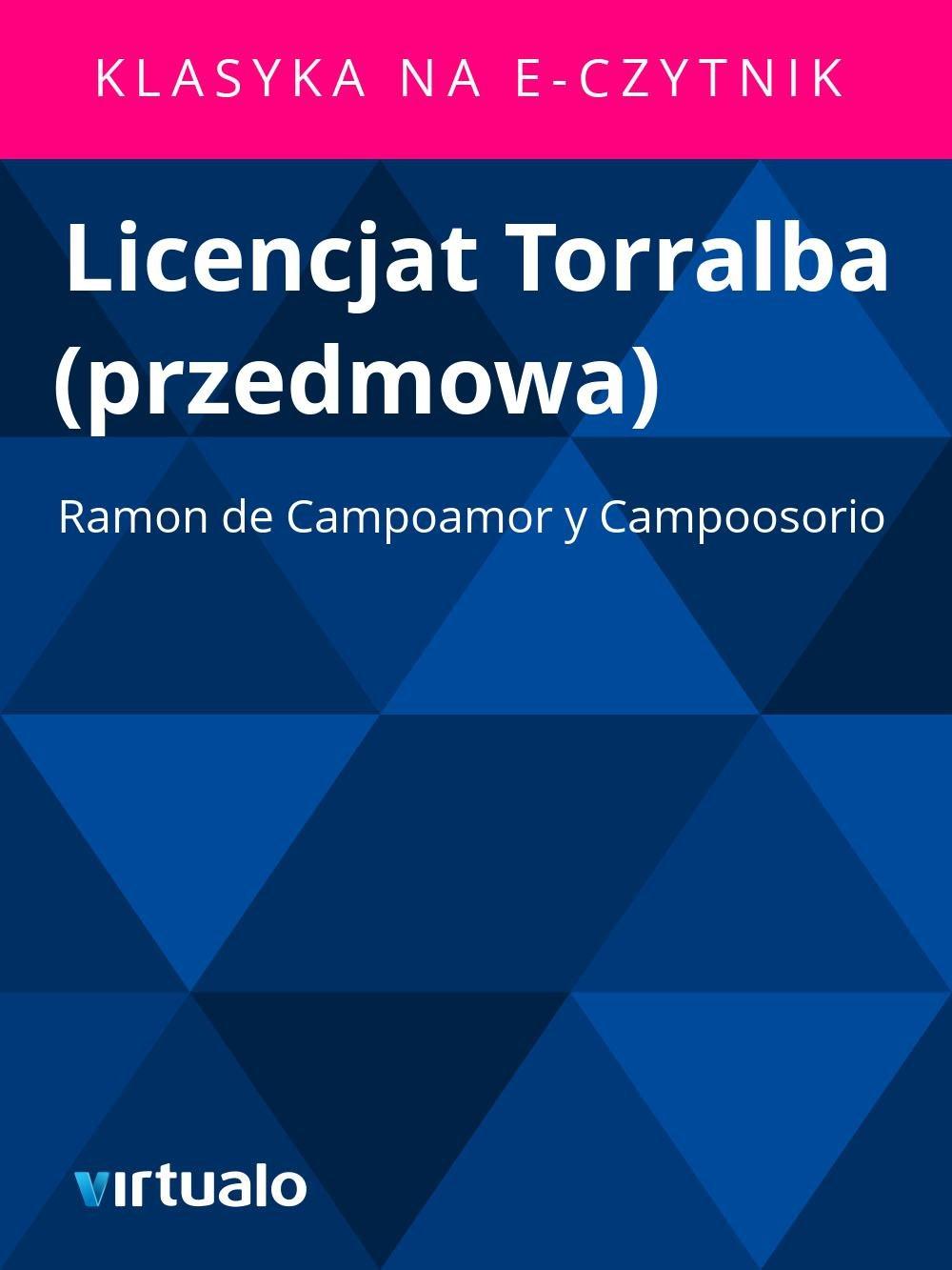 Licencjat Torralba (przedmowa) - Ebook (Książka EPUB) do pobrania w formacie EPUB