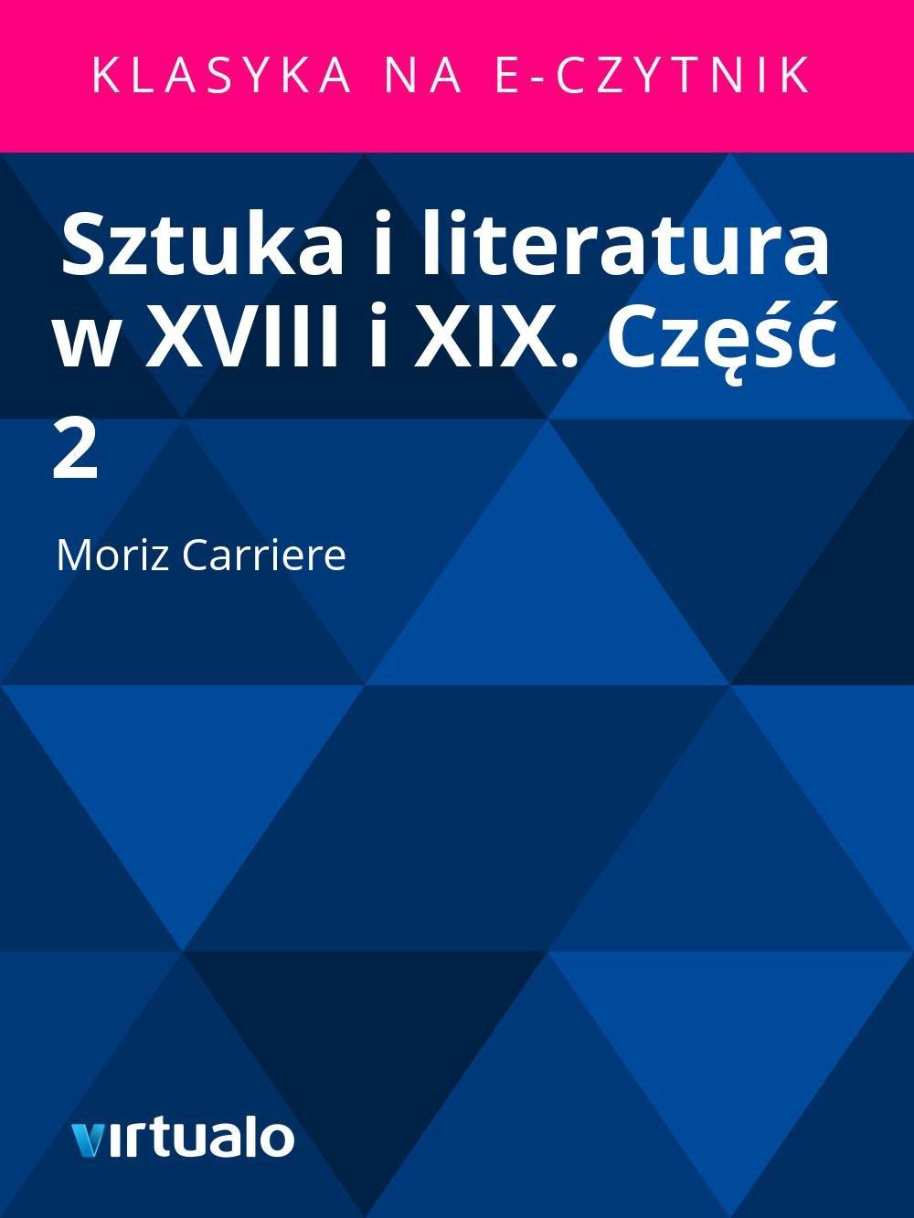 Sztuka i literatura w XVIII i XIX. Część 2 - Ebook (Książka EPUB) do pobrania w formacie EPUB