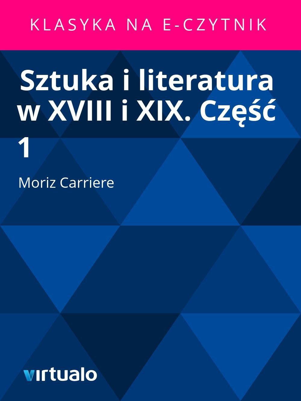 Sztuka i literatura w XVIII i XIX. Część 1 - Ebook (Książka EPUB) do pobrania w formacie EPUB